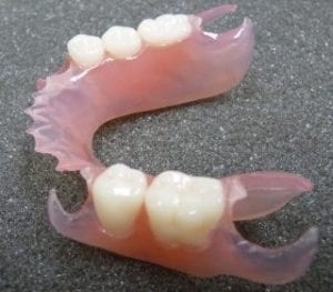 partial denture made of all plastic