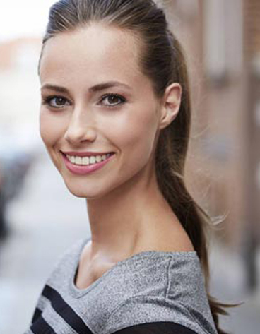 Brunette with a beautiful white smile